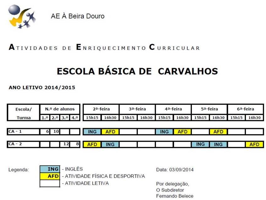 EB CARVALHOS - 14-15