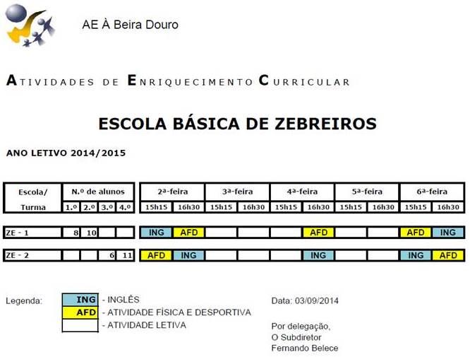 EB ZEBREIROS - 14-15